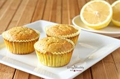 Lemon Chia Seed Muffins • paleo, low carb, nut-free, dairy-free, grain-free, gluten-free, refined sugar-free by #LivingHealthyWithChocolate