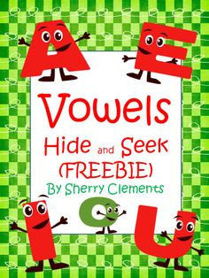 FREEBIE: TPT NEWSLETTER FEATURED FREEBIE! Vowels Hide and Seek - Students will find each vowel and color according to directions. Great for BACK to SCHOOL, literacy centers, homework, independent time, morning work, or introducing vowels.