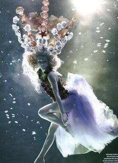 america's next top model photo shoots mermaid - Google Search