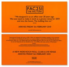 FAC251 The Factory: Launch Flyer [Ben Kelly]
