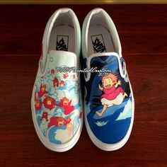 Custom Anime Cartoon Vans Shoes Hand Painted Slip On Vans Canvas 316003eb1