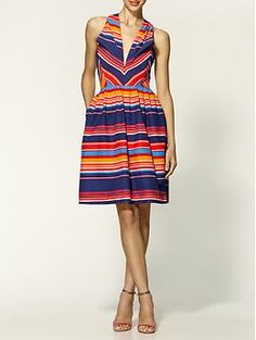 Shoshana Cape Town Stripe Dress. Would be great for one of the wedding functions for Blake/Linds!