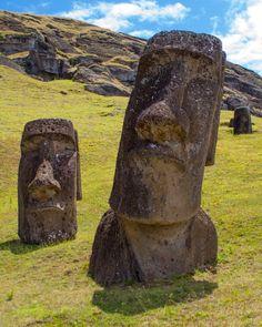 Easter Island - moai at Rano Raraku