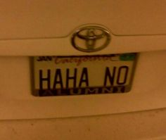 Haha license plate