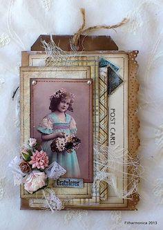 Vintage card tag