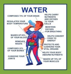 Need a place to start your healthy lifestyle program? Start with water - good old H2O! Look at all the benefits!