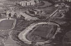 Foro Italico (già Foro Mussolini) – Notare lo Stadio dei Cipressi ancora in costruzione e il quartiere Flaminio aldilà del Tevere scarsamente edificato Anno: 1932 ca.