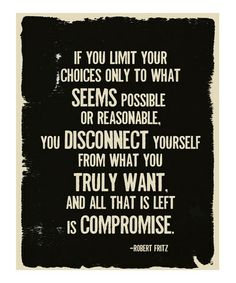 One to think about. :: Compromise Poster by Fresh Words Market