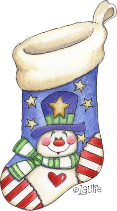 SNOWMAN Stocking ~ Laurie Furnell