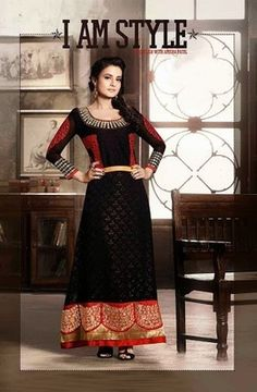 Heavy worked designer salwar kameez by amisha patel