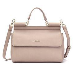 bd2f3263c2f4 Kadell Women Handbags Tote Crossbody Shoulder Bag Stylish PU Leather Top  Handle Bags Black  Handbags  Amazon.com