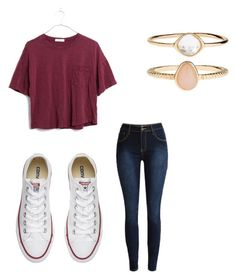 """Untitled #14"" by gabbyfuentes2001 on Polyvore featuring Madewell, Converse and Accessorize"