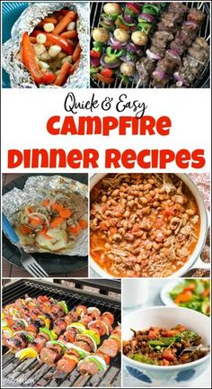Quick & Yummy Campfire Dinner Recipes for Your Next Outing Campfire dinner recipes that you will love. When you need camping dinner ideas check out these easy campfire cooking recipes to make planning your camping trip that much easier. Campfire Cooking Recipes, Campfire Food, Camping Recipes, Camping Cooking, Camping Foods, Make Ahead Camping Meals, Camping Dinner Ideas, Easy Camping Food, Campfire Potatoes