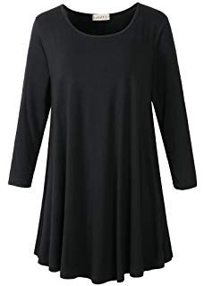 Looking for LARACE Women Sleeve Tunic Top Loose Fit Flare T-Shirt ? Check out our picks for the LARACE Women Sleeve Tunic Top Loose Fit Flare T-Shirt from the popular stores - all in one. Tunic Tops For Leggings, Long Tunic Tops, Tunic Shirt, Tunic Sweater, Outfits Plus Size, Formal Shirts, Loose Fit, Sleeves, Model