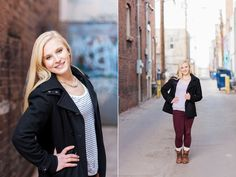 Senior portrait photography by in Downtown Laramie Wyoming by Megan Lee Photography - See more on the blog!