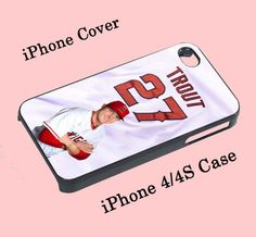 Mike Trout Baseball For iPhone 4/4S Case | onlinefida - Accessories on ArtFire