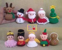 Amigurumis navideños. Crochet Christmas Decorations, Crochet Christmas Ornaments, Christmas Crochet Patterns, Christmas Toys, Christmas Knitting, Crochet Pig, Crochet Amigurumi Free Patterns, Easter Crochet, Crochet Crafts