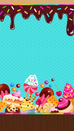 New Ideas Wall Paper Iphone Cute Emoji Wallpaper Iphone Cute, Cellphone Wallpaper, Cute Wallpapers, Wallpaper Backgrounds, Iphone Backgrounds, Invitaciones Candy Land, Logo Doce, Cupcakes Wallpaper, Boarder Designs