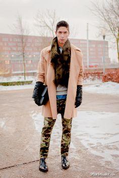 Amsterdam Fashion Week camouflage