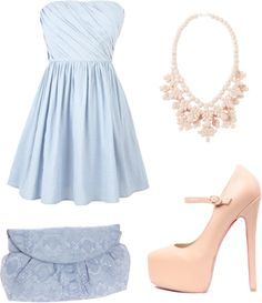 """light blue and nude"" by cr-mccabe-cm on Polyvore"