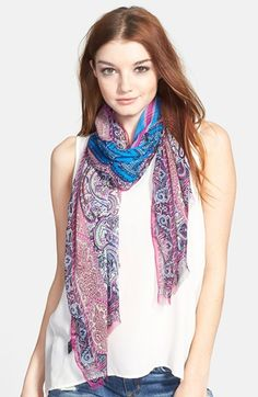 Etro Column Paisley Chiffon Scarf available at #Nordstrom