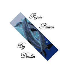 Beading pattern peyote dolphins pattern seed bead pattern