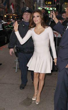 I adore this dress Star Fashion, Kids Fashion, Good Morning America, Eva Longoria, Alaia, Stars, Formal Dresses, Celebrities, Shopping