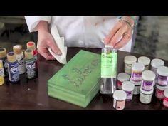 Caja de labores y marco con pátina vintage DIY - YouTube