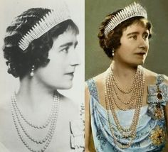 In August 1936 Queen Mary gave the tiara to queen consort, Queen Elizabeth.
