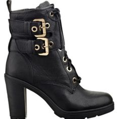Guess by Marciano Shoes - GUESS Black Leather Booties