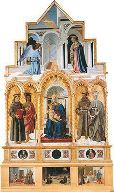Polittico della Misericordia, olio e tempera su tavola, Piero della Francesca, 1444-1464, Museo civico, SanSepolcro