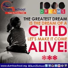 Together we can help bring their Dreams to life... Support our #1000DREAMS CAMPAIGN