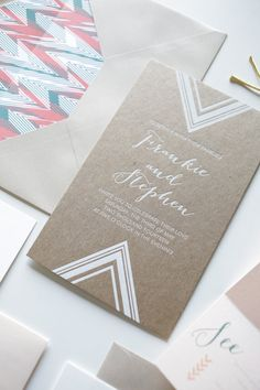 Modern geometric wedding inspiration | Real Weddings and Parties | 100 Layer Cake