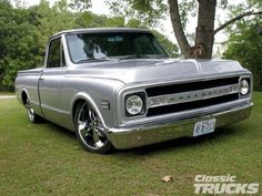 classic pick up trucks | 1969 Chevy C10 Pickup Truck Classic Head Lights Photo 1
