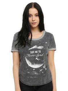 Amazon.com: Disney Peter Pan Take Me To Neverland Girls Ringer T-Shirt: Clothing