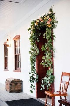 This would be a simple touch of elegance somewhere if you like??? Rose Leaves Door Garland