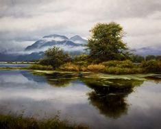 Emerald Island, by Renato Muccillo  Oil painting NOT a photograph.