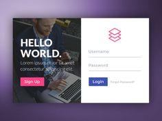 Login Form designed by Amit Keren. Form Design Web, Login Page Design, Website Design Layout, Web Layout, App Design, App Login, Login Form, Web Panel, Portal Design