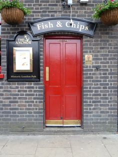 "Fish & Chips, London ""I see a red door and I want to paint it black"""