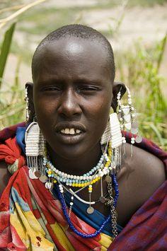 Maasai woman in Ngorongoro....by Marie-Marthe Gagnon