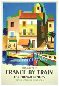 Poster gigante azzurra Vintage Railway