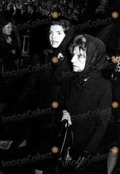 EVGENIA GL ALEXANDER FUNERAL THE TRAGEDY BEGINS Jackie Kennedy, Kennedy, Jackie Kennedy Onassis Photo - Jackie Kennedy Onassis with Her Sister-in-law Mrs. Garofalidis at Alexander Onassis' Funeral 1973 #9287 Photo by Hellas Press-ipol-Globe Photos, Inc.