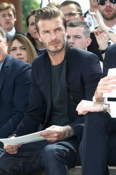 David Beckham at the Louis Vuitton Men's Spring/Summer 2014 Fashion Show. ©Louis Vuitton / Bertrand Rindoff