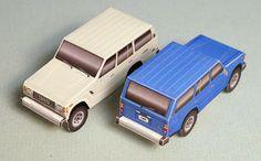 Toyota FJ60 paper models | papercruiser.com