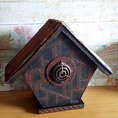 Altered Birdhouse using DecoArt Media acrylics