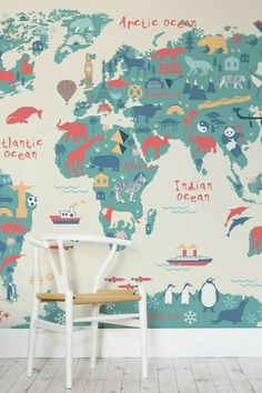 Childrens illustrated animal world map canvas prints wall art childrens illustrated animal world map canvas prints wall art great value pinterest canvases prints and buddha canvas gumiabroncs Choice Image