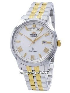 Incredible prices on Orient Contemporary Automatic Japan Made Men's Watch has Made In Japan, Stainless Steel Case, Two Tone Stainless Steel Bracelet, Automatic Movement, Caliber: 21 Jewels Stainless Steel Bracelet, Stainless Steel Case, Watches For Men, Japan, Jewels, Contemporary, Accessories, Top Mens Watches, Bijoux