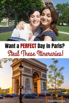 More than 5 Itineraries for your perfect day in Paris! All the best things to do complete with maps and details for your 1 perfect day in Paris! Whether you love shopping walking visiting Paris Travel Guide, Europe Travel Tips, European Travel, Travel Advice, Travel Ideas, Travel Vlog, Travel Channel, Travel Packing, Solo Travel