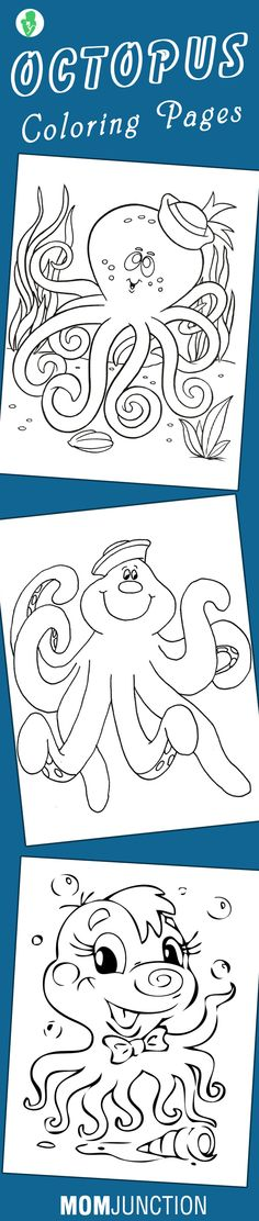 10 Cute Octopus Coloring Pages Your Toddler Will Love to Color :)