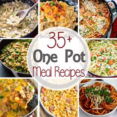 35+ One Pot Meal Recipes ~ What's not to Love about One Pot Meals? Only One Dish to get Dinner on the Table! You'll Love These One Pot Dinner Recipes!